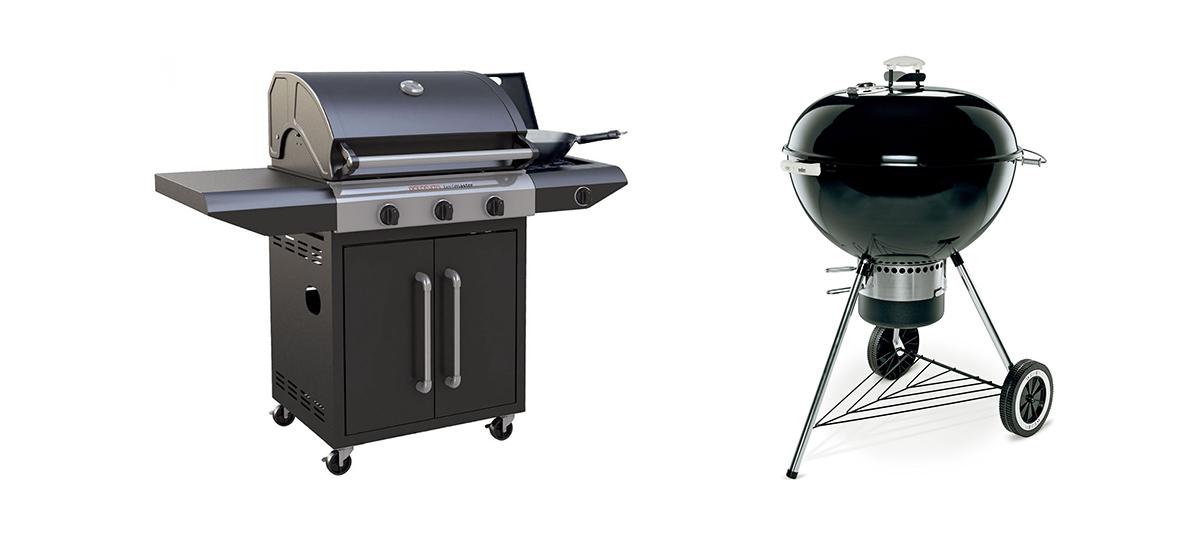 Barbecue a gas o carbonella