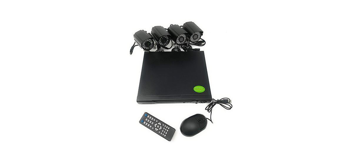 CCTV h264 4 canali + telecamera+DVR kit