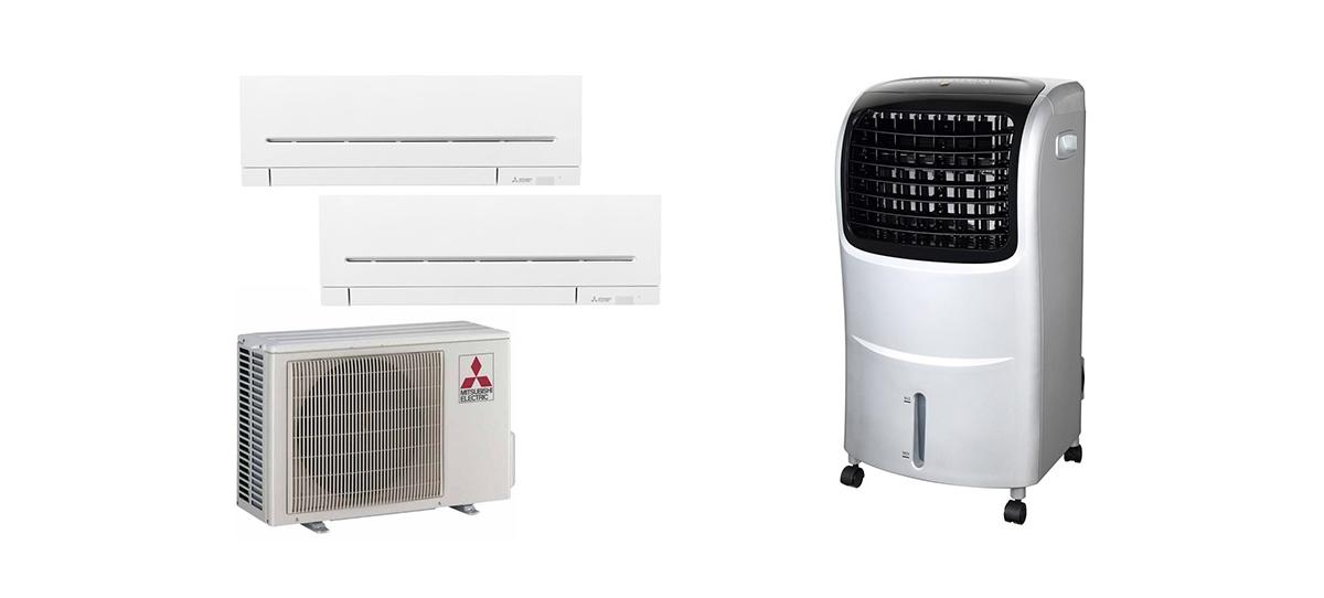 Raffrescatore evaporativo o condizionatore?