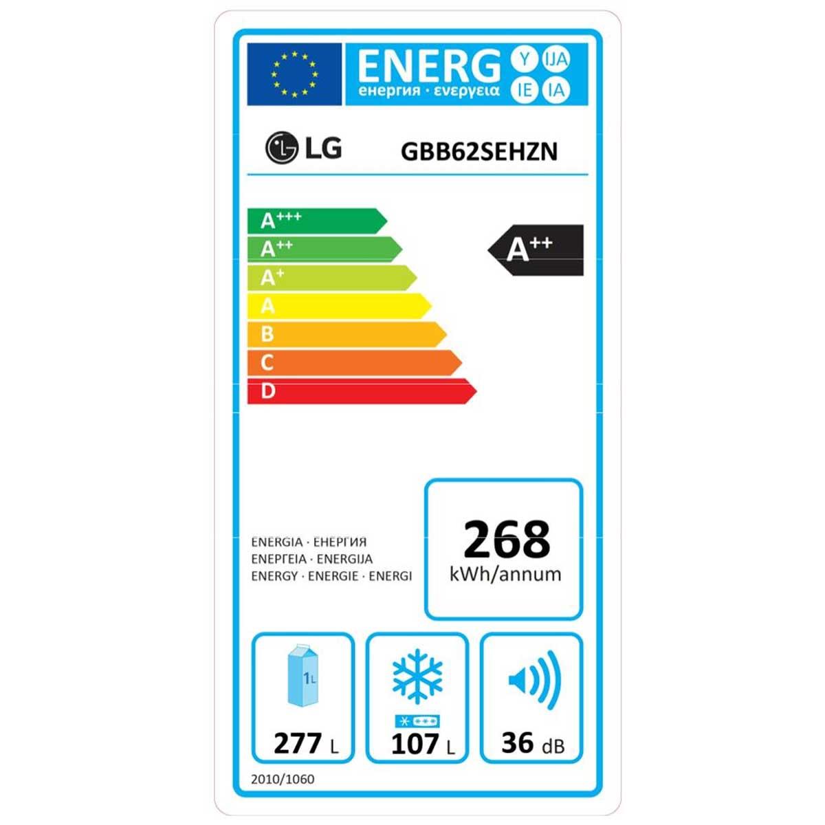 etichetta energetica LG GBB62SEHZN