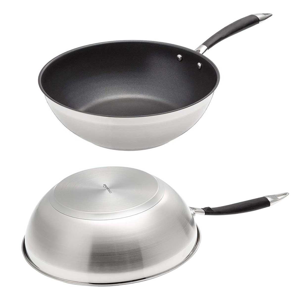 IKOHS Pan liberi di PDFE e PFOA Padella in alluminio per tutti i tipi di cucina inclusa induzione rivestimento antiaderente manico in bachelite verde, 20/_ cm design retr/ò