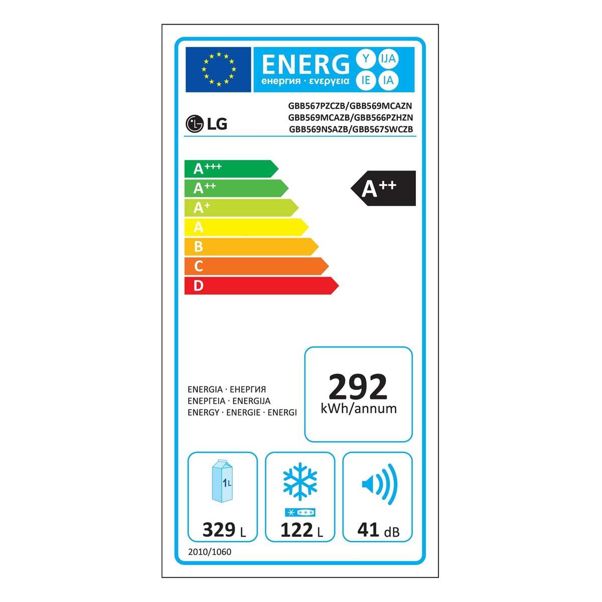 etichetta energetica LG GBB567PZCZB