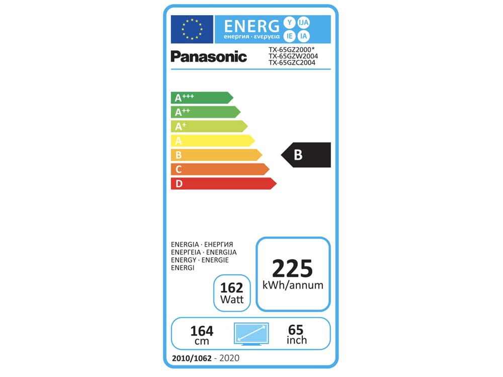 Panasonic TX-65GZ2000 consumo energetico