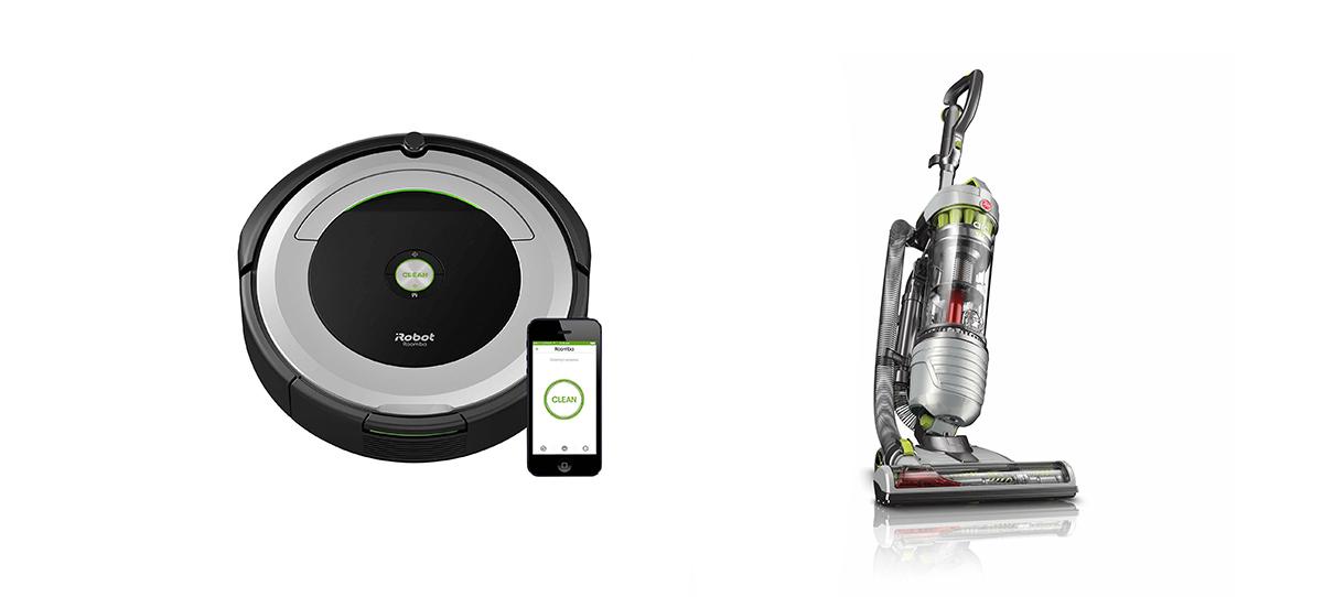 robot aspirapolvere o scopa elettrica